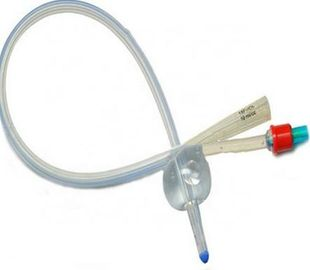 China Clear Color 2 Way Silicone Foley Catheter , Intermittent Urinary Catheter supplier
