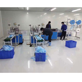 China Automatic Surgical Face Mask Maker Machine Fast Speed Ultrasonic Frequency Welding supplier